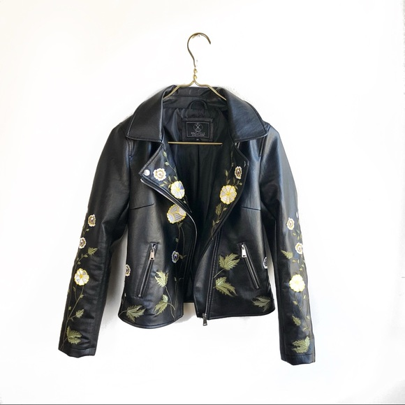 595411085 Rino & Pelle Floral Faux Leather Jacket.